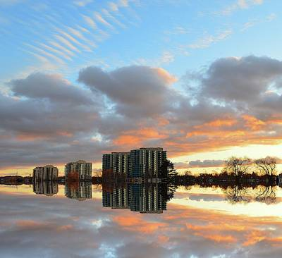 Digital Art - Sunset Clouds And Towers Three  by Lyle Crump