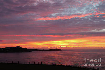 Photograph - Sunset Clouds In Newquay Cornwall by Nicholas Burningham