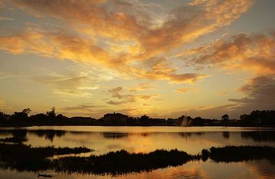 Photograph - Sunset Clouds Over Lake Desoto by rd Erickson