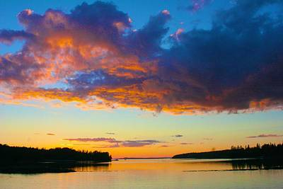 Photograph - Sunset Clouds Overhead by Polly Castor