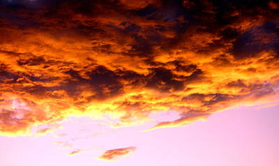 Photograph - Sunset Clouds by Valentino Visentini