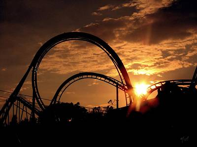 Photograph - Sunset Coaster by Mark Taylor