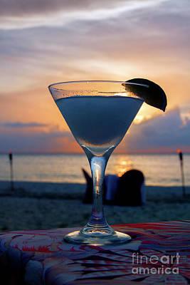 Sunset Cocktail At The Beach Art Print