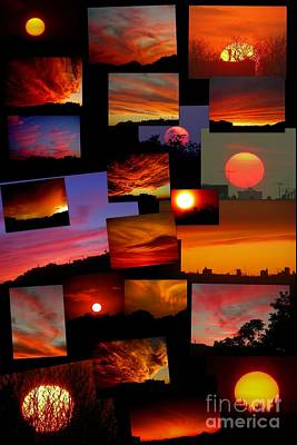 Photograph - Sunset Collage by Mark Gilman