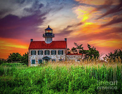Photograph - Sunset Colors At East Point by Nick Zelinsky