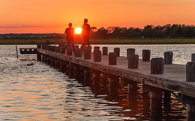 Seaside Heights Photograph - Sunset Couple by Kristopher Schoenleber