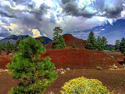Photograph - Sunset Crater's Energies by Michael Oceanofwisdom Bidwell