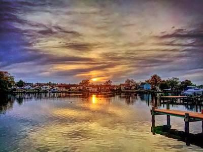 Photograph - Sunset Creek by Chris Montcalmo