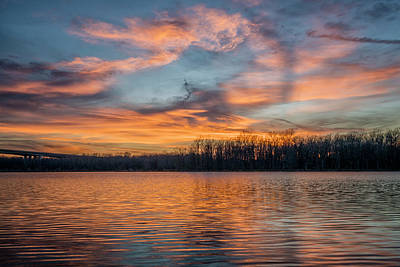 Photograph - Sunset Creve Couer Lake 7r2_dsc4259_17-02-17 by Greg Kluempers