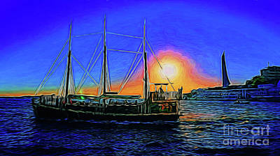 Photograph - Sunset Cruise 14418 by Ray Shrewsberry