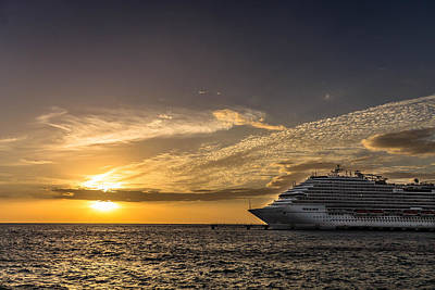 Cozumel Photograph - Sunset Cruise by Fred Boehm