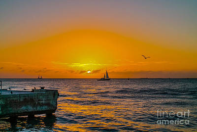 Sunset Cruise - Key West 2 Art Print