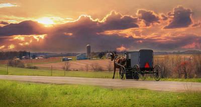 Farming Digital Art - Sunset Cruise by Lori Deiter