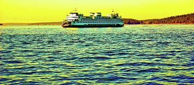 Photograph - Sunset Cruise On The Ferry by Craig Perry-Ollila