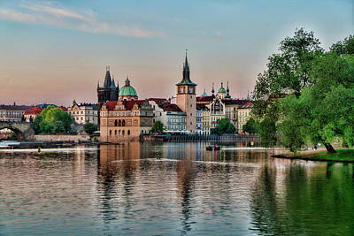 Photograph - Sunset Cruise Prague by Sharon Popek