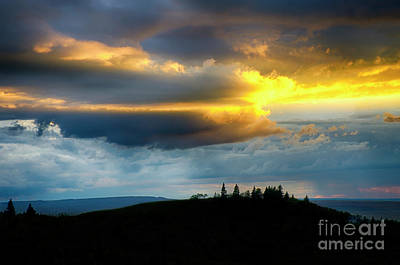 Photograph - Sunset Cypress Hills Saskatchewan Canada by Bob Christopher