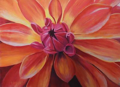 Pastel - Sunset Dahlia by Carol Corliss