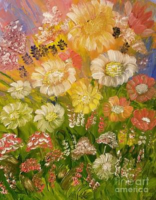 Painting - Sunset Daisies by Maria Urso