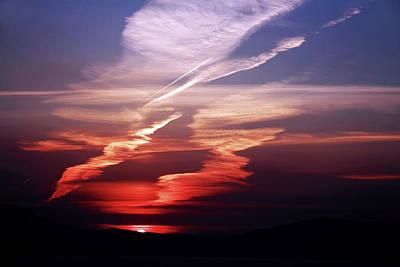 Burren Photograph - Sunset Dance by Aidan Moran