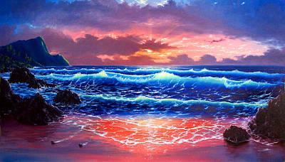 Sunset Art Print by Daniel Bergren