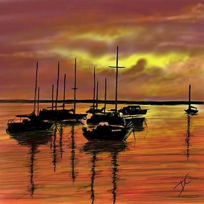 Digital Art - Sunset by Darren Cannell