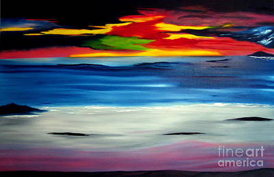 Sunset Art Print by David Hatton