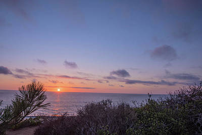 Photograph - Sunset Delmar Beach San Diego California by Bruce Pritchett
