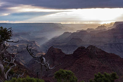 Sunset - Desert View Point - Grand Canyon Arizona Art Print by Jon Berghoff