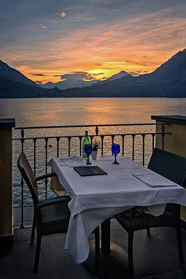 Photograph - Sunset Dining by Carolyn Derstine