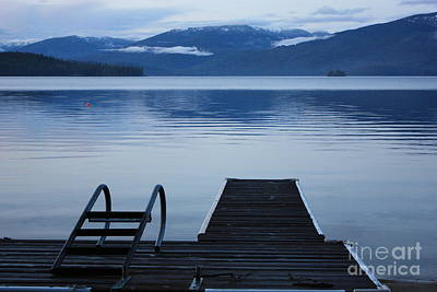 Photograph - Sunset Dock At Priest Lake by Carol Groenen