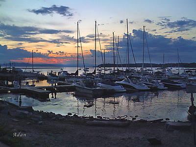 Art Print featuring the photograph Sunset Dock by Felipe Adan Lerma