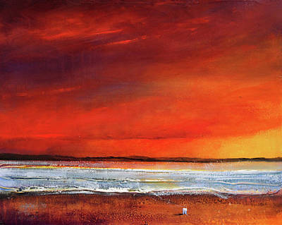 Sunset Dreamin Art Print by Toni Grote