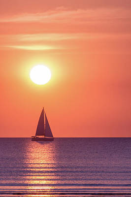 Sail Photograph - Sunset Dreams by Racheal Christian