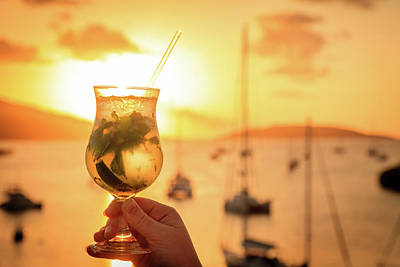 Caravaggio - Sunset drink in the islands by Alexey Stiop