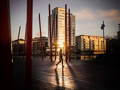 35mm Photograph - Sunset - Dublin, Ireland - Color Street Photography by Giuseppe Milo