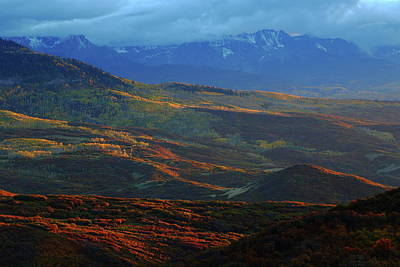 Art Print featuring the photograph Sunset During Autumn Below The San Juan Mountains In Colorado by Jetson Nguyen