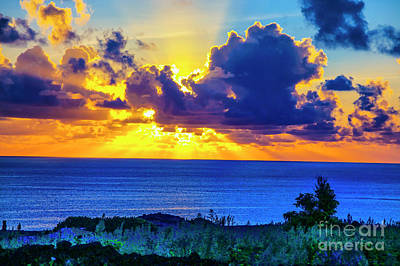 Photograph - Sunset Easter Island by Rick Bragan