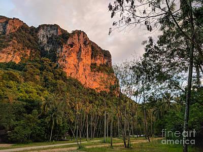 Photograph - Sunset Eflecting On Cliffs Thailand by Nicholas Braman
