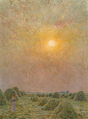 Field. Cloud Painting - Sunset by Emile Claus