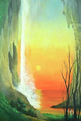 Sunset Fall  Art Print by Daniel Sanchez