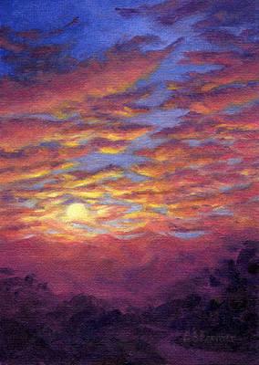Sunset Fantasy Art Print by Elaine Farmer