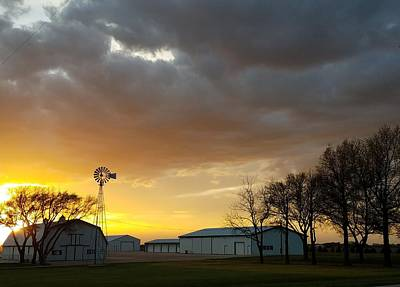 Photograph - Sunset Farm by Caryl J Bohn