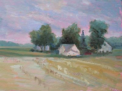 Painting - Sunset Farm by Judy Fischer Walton