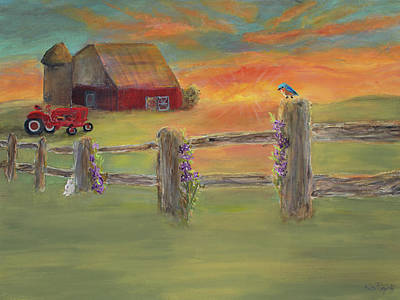Painting - Sunset Farm by Ken Figurski