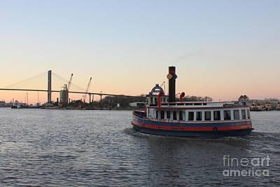 Photograph - Sunset Ferry In Savannah by Carol Groenen