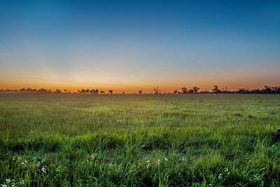 Sol Photograph - Sunset Fields by Az Jackson