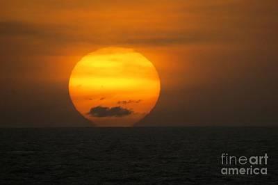 Photograph - Sunset Fireball by Frank Townsley