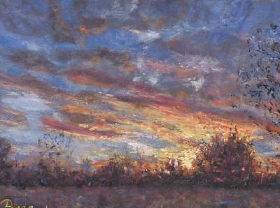 Sunset Fires Art Print by Horacio Prada