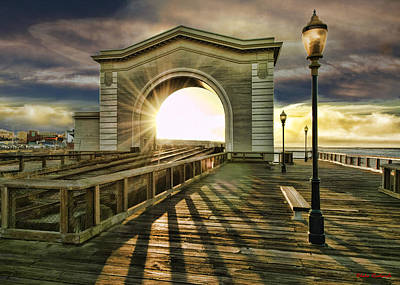 Photograph - Sunset Fishermans Wharf by Blake Richards