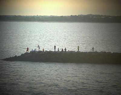 Photograph - Sunset Fishermen by Margie Avellino